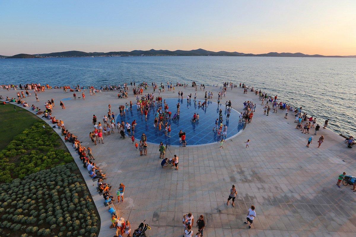 Greeting to the Sun Birdview  Permanent Exhibition   Zadar City Tour   Walking Tours